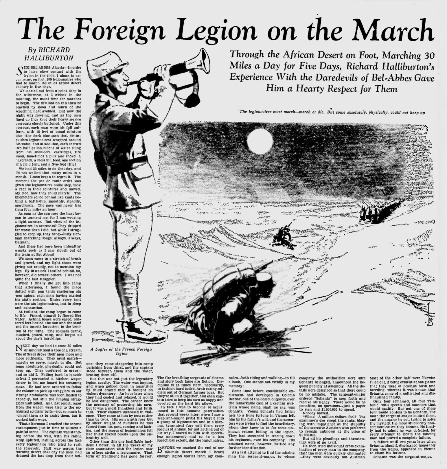 The foreign legion on the march mon legionnaire