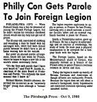 Philly Con Gets Parole to Join FFL