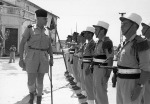 General COGNY visits the Foreign Legion at Nam Dinh. May 1954.
